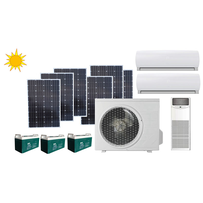 100% Off Grid 48V DC Solar Air Conditioner
